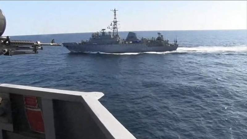Mayport-based warship faces aggressive moves by Russia ship in Mideast