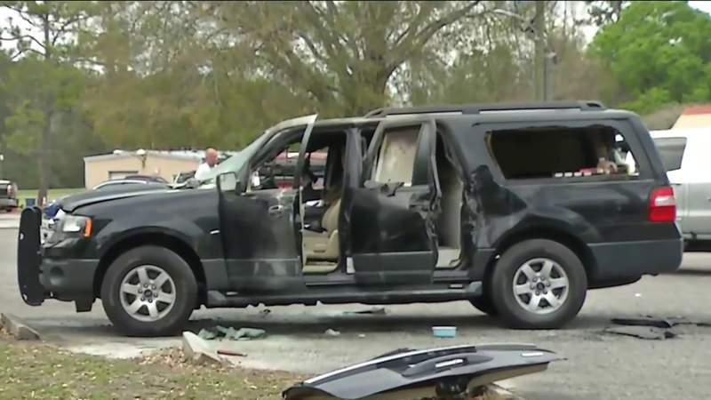 ATF K-9 treated for smoke inhalation after SUV fire