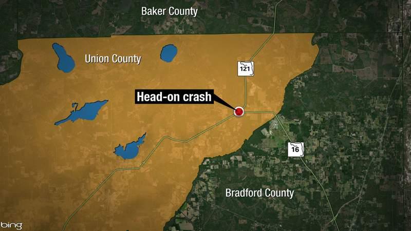 Map - Union County head-on crash