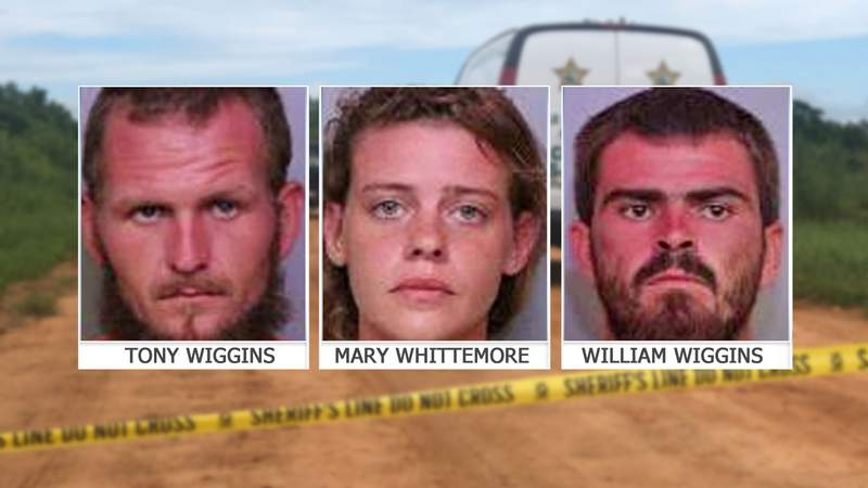 Two brothers and young woman charged in deaths of three men on fishing trip.