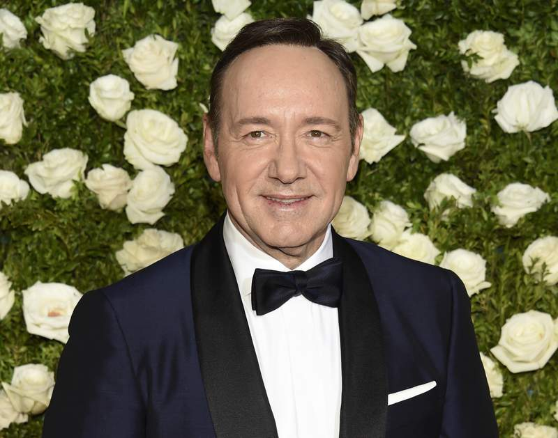 FILE - In this June 11, 2017 file photo, Kevin Spacey arrives at the 71st annual Tony Awards at Radio City Music Hall in New York. A man accusing Oscar-winning actor Kevin Spacey of sexually abusing him in the 1980s when he was 14 cannot proceed anonymously in court, a judge ruled Monday. U.S. District Judge Lewis A. Kaplan in Manhattan refused to let the man proceed only as C.D. in a lawsuit filed in September in New York state court and later moved to federal court. (Photo by Evan Agostini/Invision/AP, File)