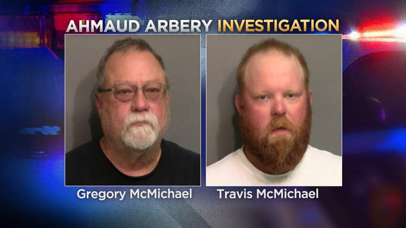 Greg and Travis McMichael are charged with murder in the death of Ahmaud Arbery.