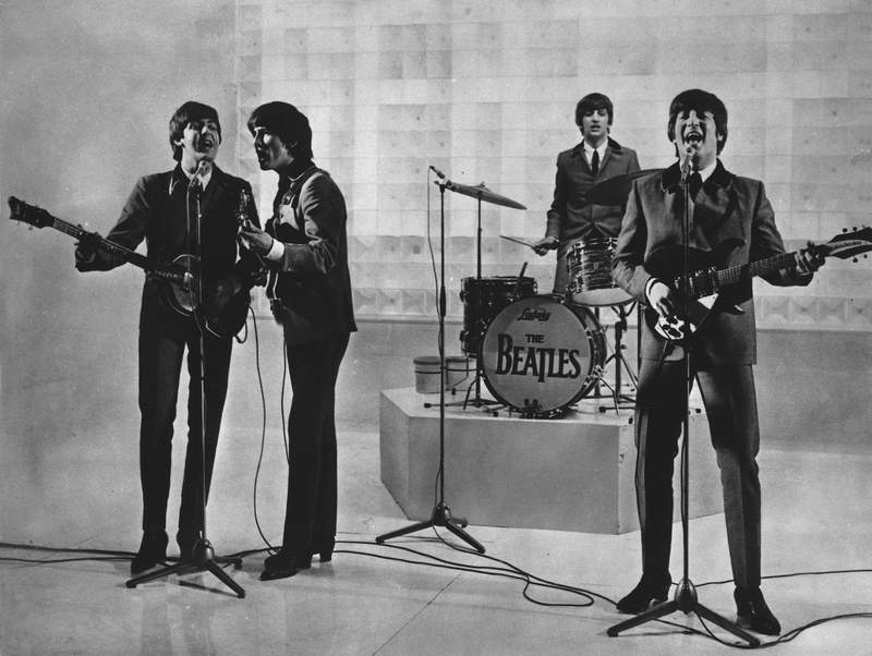 FILE - The Beatles are seen performing, date unknown. From left to right: Paul McCartney, George Harrison, Ringo Starr, and John Lennon. McCartney has revisited the breakup of The Beatles, refuting the suggestion that he was responsible for the groups demise. Speaking on an episode of BBC Radio 4s This Cultural Life that is scheduled to air Oct 23, McCartney said it was John Lennon who wanted to disband The Beatles. (AP Photo)