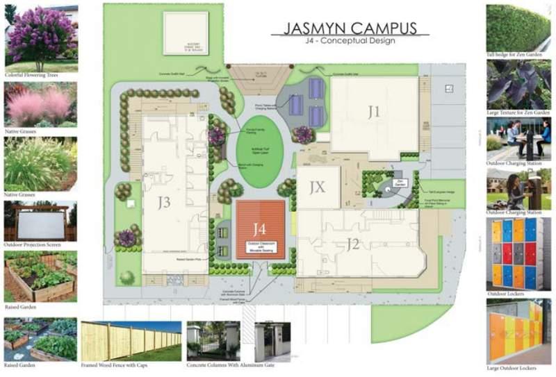 Design renderings for JASMYN campus expansion.