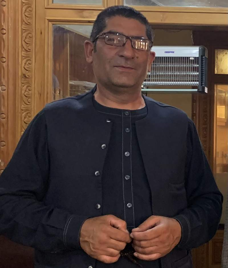 Afghan Journalist Rahmatullah Nikzad poses for photograph in Kabul, Afghanistan, July 29, 2019. Nikzad , a prominent local journalist was shot dead by unknown assailants in Afghanistan's central Ghazni province on Monday, Dec. 21, 2020. He was the fourth journalist to be killed in the war-ravaged nation in just two months. Afghanistan is considered one of the world's most dangerous countries for journalists. (AP Photo/Rahmat Gul)