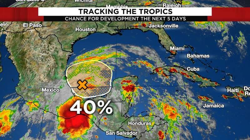 40% chance for storm development
