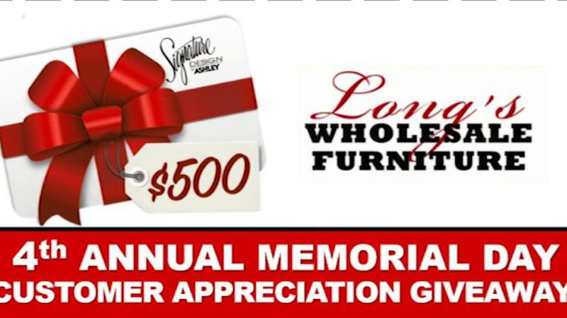 Long's Wholesale Furniture Memorial Day Giveaway | River City Live