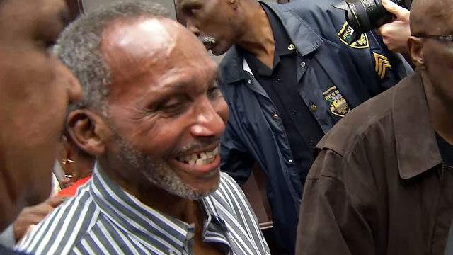 Clifford Williams smiles the day he was released from prison.