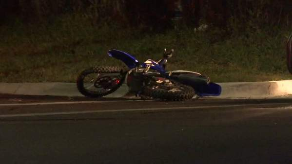 A motorcyclist was hospitalized after a crash with an SUV Sunday night.