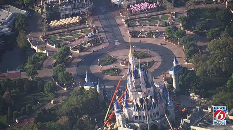Aerials from WKMG of Walt Disney World