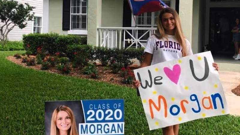 Providence School surprised its seniors with personalized yard signs on what would have been prom night.