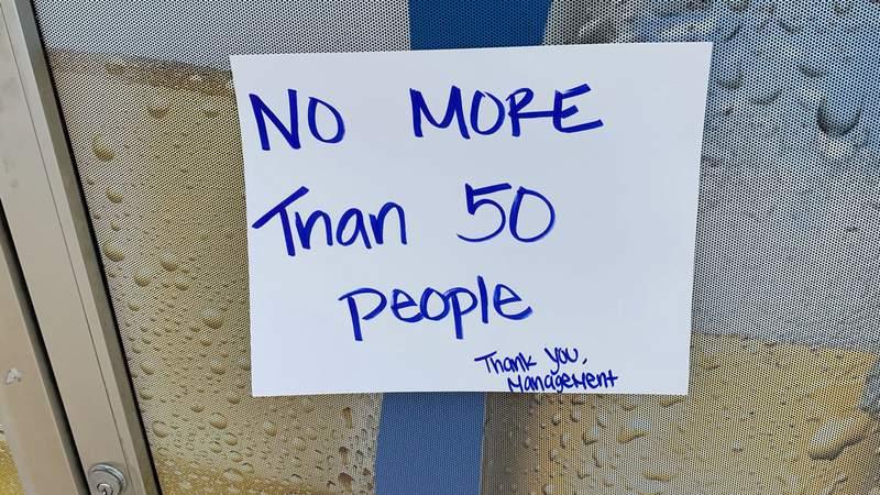 Sign on the door of the Casa Maria restaurant on Jacksonville's Northside