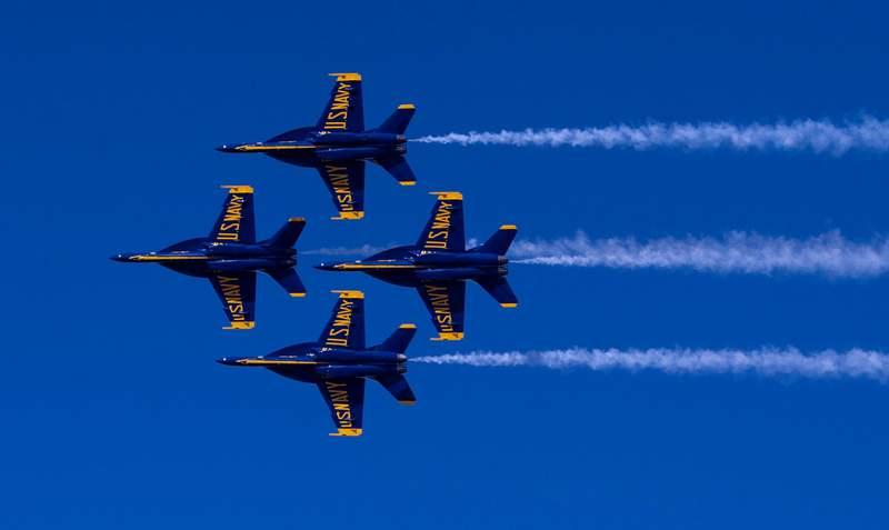 Blue Angels Super Hornet (Credit: U.S. Navy Blue Angels)