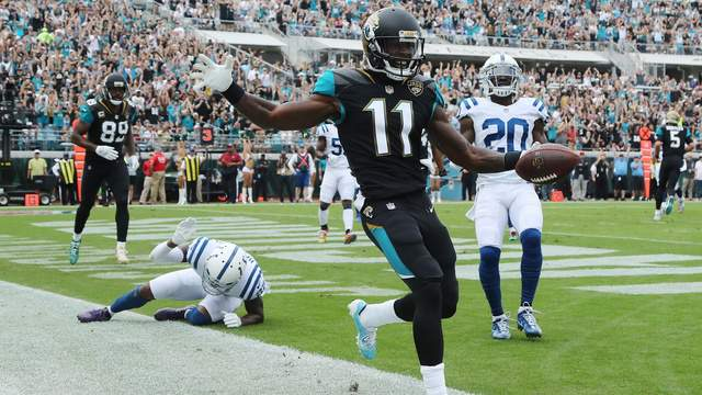 """McCardell on Marqise Lee: """"He is a catalyst of our group and our group goes as he goes. He is a tough guy that is a leader. This is the time where as a vet, you kind of tone him down a little bit and then get him going through minicamp and training camp. He is a guy that everybody knows when the whistle blows, he is ready to play football."""""""