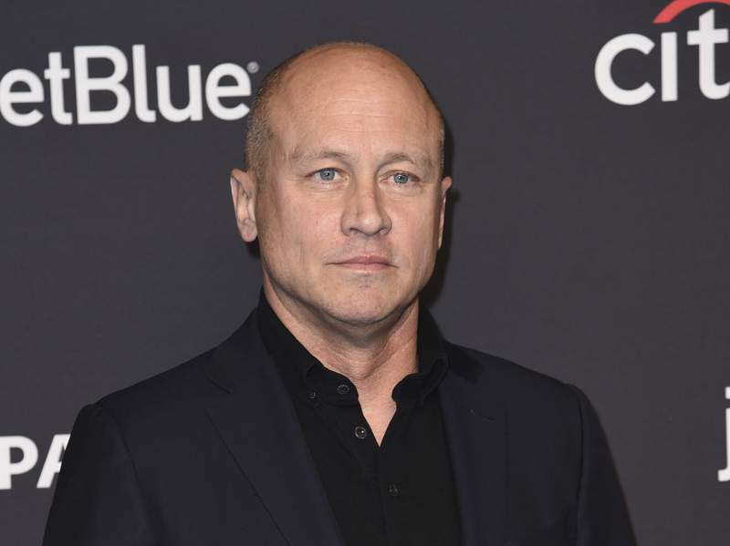 """FILE - Mike Judge arrives at a screening for """"Silicon Valley"""" during the 35th annual PaleyFest in Los Angeles on March 18, 2018. Comedy Central announced an expansive deal with Judge to reimagine MTV's 1990s animated series """"Beavis and Butt-Head,"""" as well as additional spin-offs and specials. (Photo by Richard Shotwell/Invision/AP, File)"""