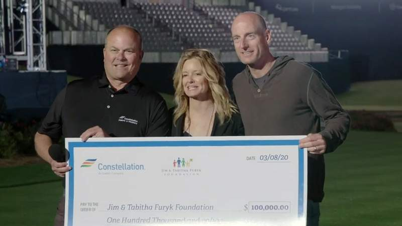 Jim & Tabitha Furyk kick off fundraising of initial PGA Champions Tour tournament with $100,000 donation.