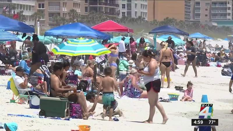 Crowded beaches, increase in travel over Memorial Day weekend signal return to normalcy