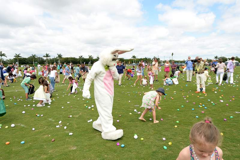WELLINGTON, FL - APRIL 20:  A general view of atmosphere of Easter Egg Hunt at USPA Maserati U.S. Open Polo Championship at International Polo Club Palm Beach on April 20, 2014 in Wellington, Florida.  (Photo by Gustavo Caballero/Getty Images for Maserati)