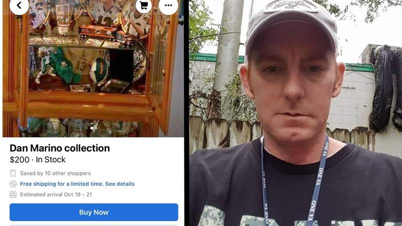 The belongings of Jody Hagemes, 48, showed up for sale on Facebook months after he died.