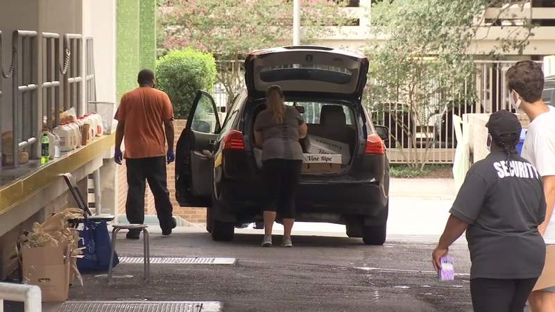 There was a food giveaway Thursday in downtown Jacksonville.