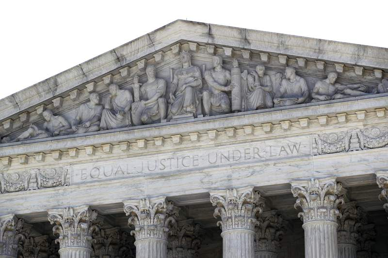 The Supreme Court is seen on Capitol Hill in Washington, Monday, June 29, 2020. (AP Photo/Patrick Semansky)