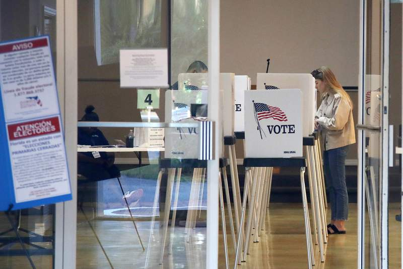 Voters cast their ballots in Florida's March presidential primary.