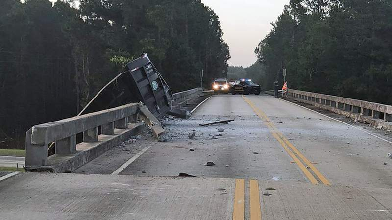 I-16 is closed from Exit 71 to Exit 78 in Treutlen County after a truck hit the GA-86 bridge and it shifted it 6 feet.