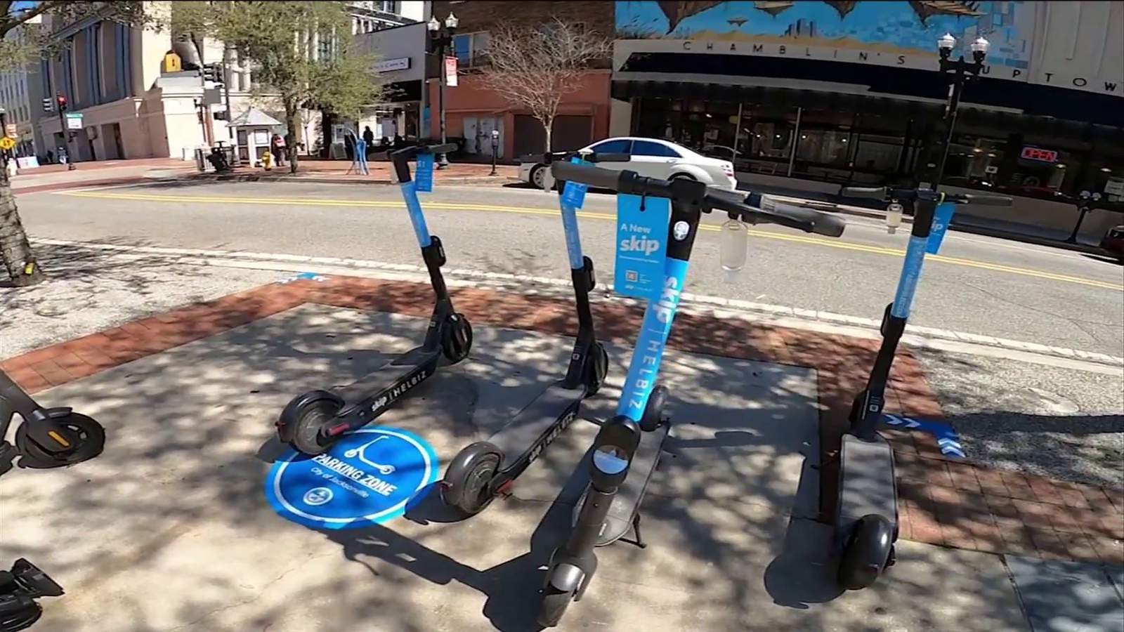 Creating buzz: Electric scooters, bikes rev up in Downtown Jacksonville - WJXT News4JAX
