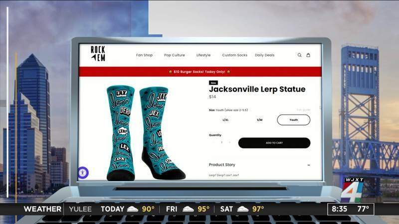 Rock 'Em Socks creates 'Lerp? Derp? Lax? Jax?' socks