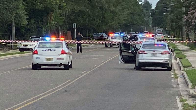 Jammes Road closed while police investigate double shooting.