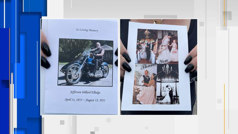 Lewis lost her husband, Jefferson Elledge, on August 12 from complications following a long battle against coronavirus.