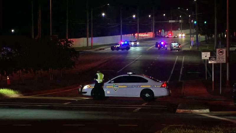 Police investigate fatal crash on Hammond Boulevard.