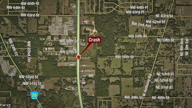 A man was seriously injured after being rear-ended on US 441. The impact forced his car to flip at least once.