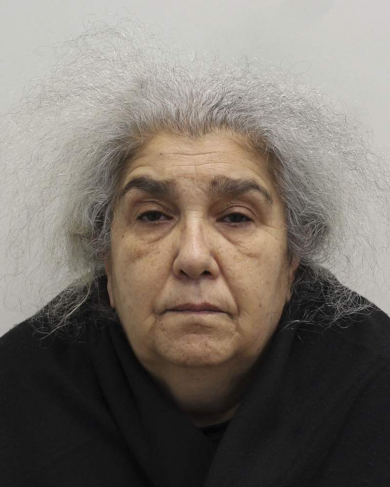 This undated photo issued by the Metropolitan Police shows Lulu Lakatos. A purported gem expert has been convicted of using sleight of hand to steal 4.2 million pounds ($5.7 million) worth of diamonds from a luxury jeweler in Londons tony Mayfair district. Lulu Lakatos, 60, was sentenced Wednesday July 28, 2021, to 5 1/2 years in prison after the trial at Southwark Crown Court in London. (Metropolitan Police via AP)