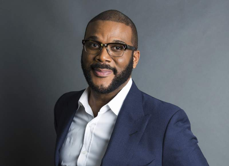 FILE - Actor-filmmaker and author Tyler Perry poses for a portrait in New York on Nov. 16, 2017. Perry has won awards from the NAACP and BET. Now he's getting a big one from the Television Academy. He and his foundation are the recipients of the 2020 Governors Award. (Photo by Amy Sussman/Invision/AP, File)