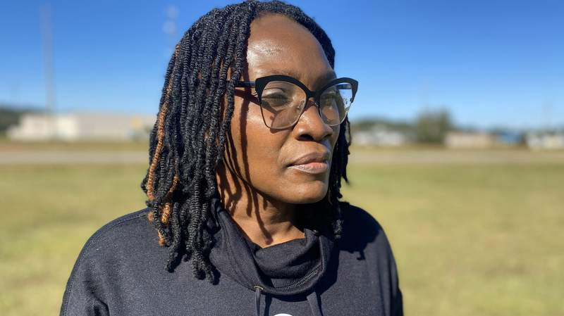 """Wanda Cooper-Jones, whose son, Ahmaud Arbery, was shot and killed in Brunswick, Ga. last February, cast a vote in the election on Tuesday, saying, """"I had to cast this vote for me and Ahmaud."""""""