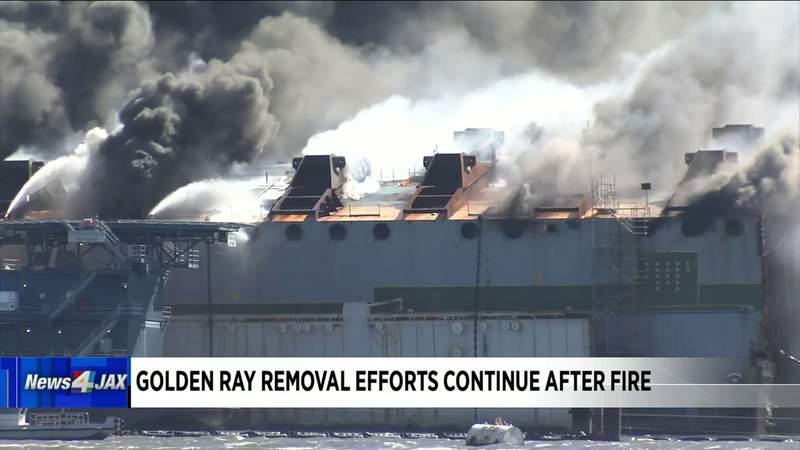 Golden Ray Fire Update