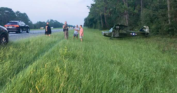 """""""It's not every day we respond to an airplane on the interstate,"""" FHP Lt. Jason King wrote."""