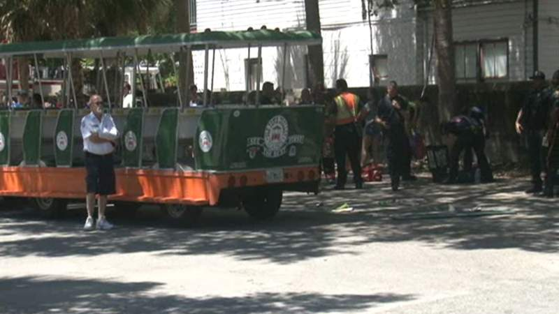 Trolley crash in St. Augustine injures 12, firefighters say