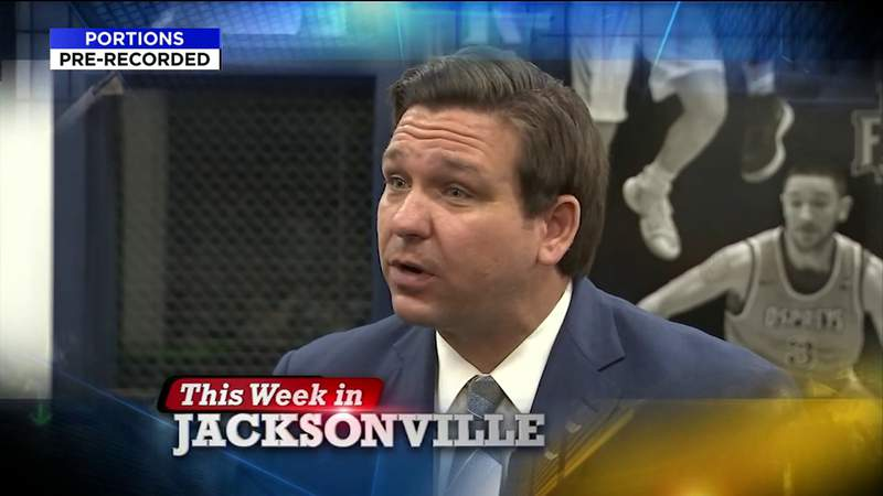 Governor Ron DeSantis; Clay County Sheriff Darryl Daniels; Clay County Commissioner Mike Cella