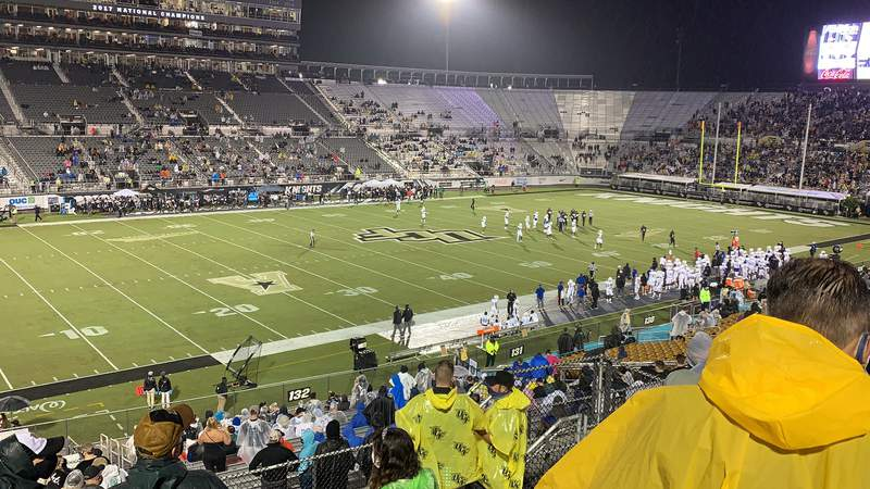 UCF fans were under new rules to socially distance and wear masks at the first home game of the season on Saturday.