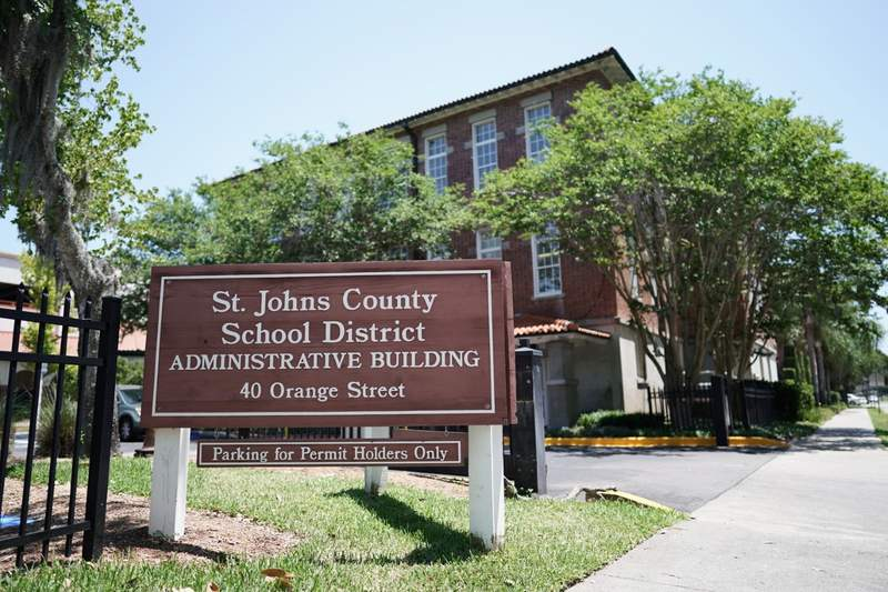 St. Johns County School District headquarters in downtown St. Augustine.