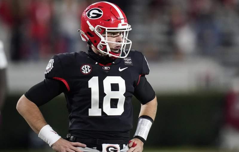 Georgia quarterback JT Daniels.