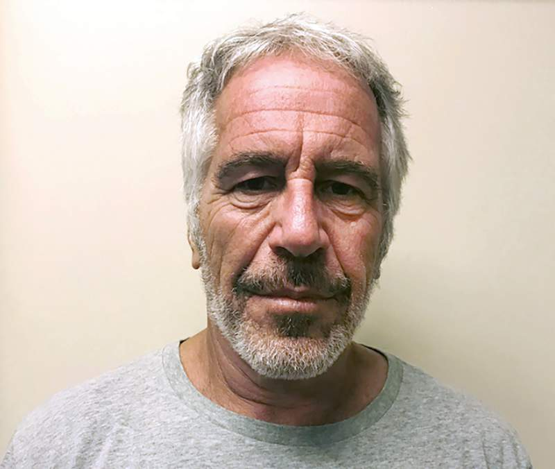 FILE - This March 28, 2017, file photo, provided by the New York State Sex Offender Registry, shows Jeffrey Epstein. Federal prosecutors said Thursday Jan. 9, 2020, that jailhouse video no longer exists of the area around Jeffrey Epstein's jail cell on a day he survived an apparent suicide attempt.  (New York State Sex Offender Registry via AP, File)