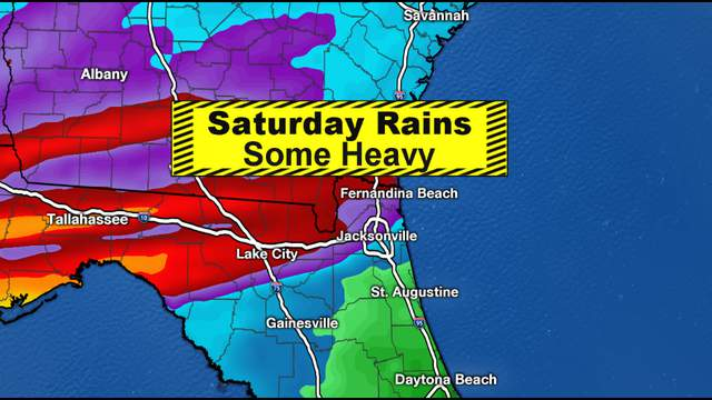 Forecast models continue to shift around but say the same thing, heavy rains, possible flooding rains will be across parts of South Georgia and North Florida.