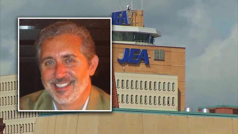 Composite of JEA Tower and former board member Alan Howard