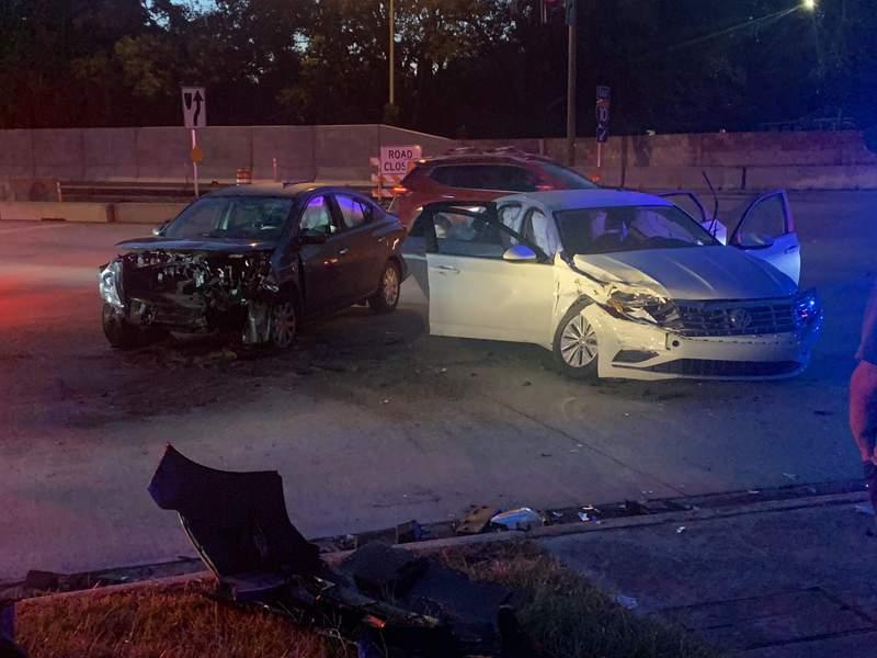 Crash at Roosevelt Boulevard and McDuff Avenue.