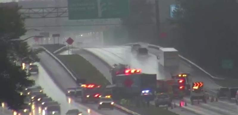 Crash on Interstate 95 south near Jacksonville International Airport.