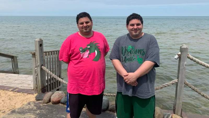 Sammy (in pink shirt) and Anthony Taormina. Contributed photo