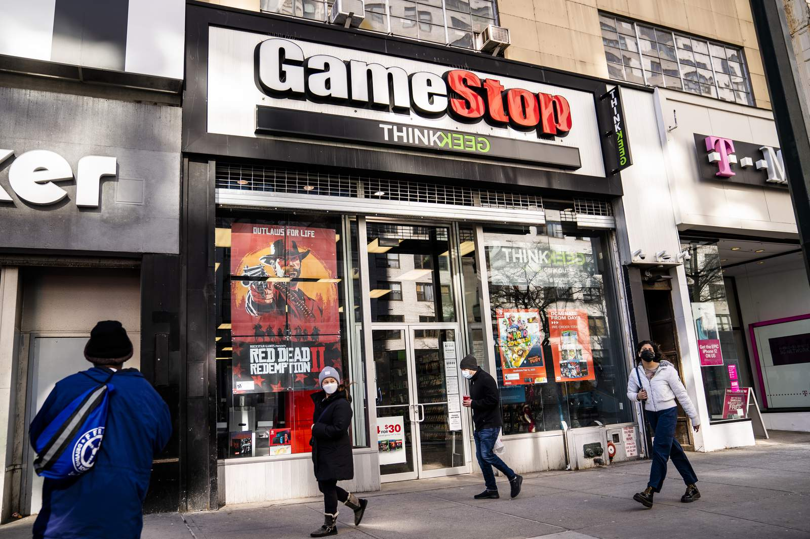 gamestop shares drop 60% as frenzied rally loses steam